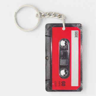 Red Label Cassette Keychain