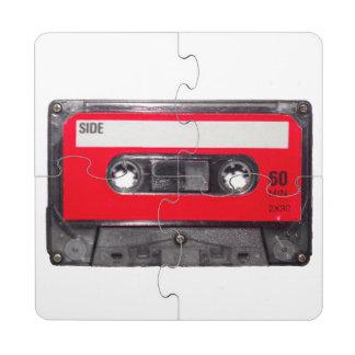 Red Label Cassette Puzzle Coaster