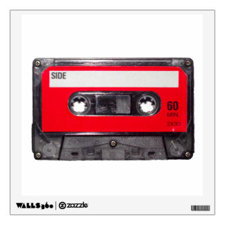 Red Label Cassette Wall Sticker