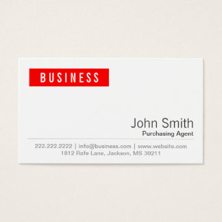 Red Label Purchasing Agent Business Card