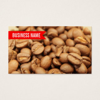 Red Label Roasted Coffee Beans Business Card