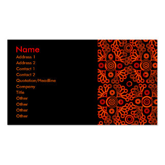 red lace Double-Sided standard business cards (Pack of 100)
