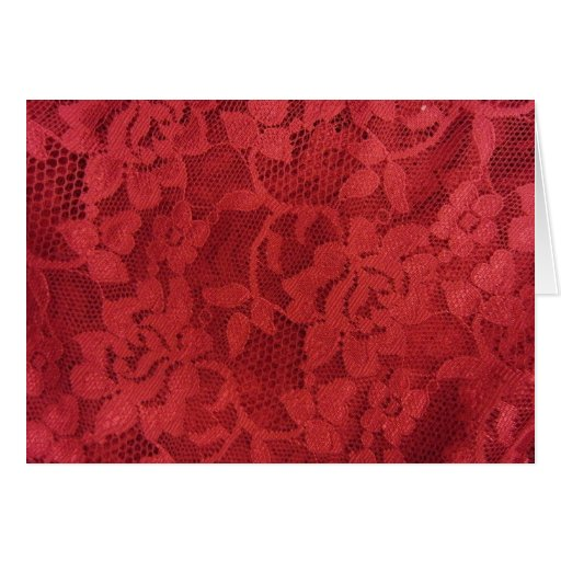 Red Lace Card