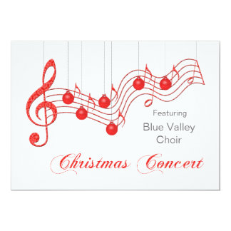 Red Lace Christmas Concert Announcement