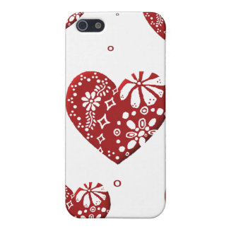 Red Lace Heart Case For iPhone SE/5/5s