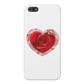 Red Lace Heart Cover For iPhone SE/5/5s