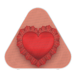 Red Lace Heart Customizable Speaker