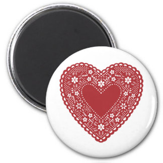 Red Lace Heart Magnet