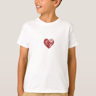 Red Lace Heart T-Shirt
