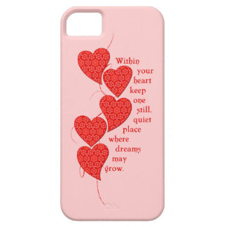 Red Lace Hearts iPhone SE/5/5s Case
