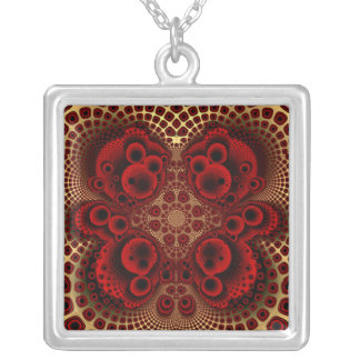 Red Lace Necklace