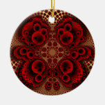 Red Lace Ornament