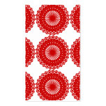 Red Lace Pattern Design. Business Card Templates