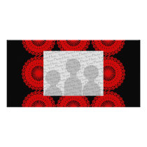 Red Lace Pattern Design. Card