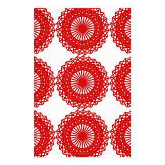 Red Lace Pattern Design. Flyer