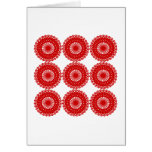 Red Lace Pattern Design. Greeting Cards