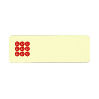 Red Lace Pattern Design. Label