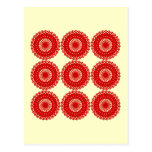 Red Lace Pattern Design. Postcard