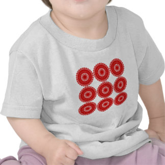 Red Lace Pattern Design Tshirts
