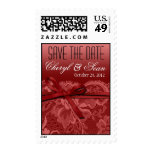 Red Lace Save the Date Wedding Postage