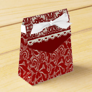 Red Lace Tent Box Favor Box