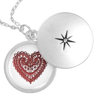 Red Lace Valentine Heart Locket