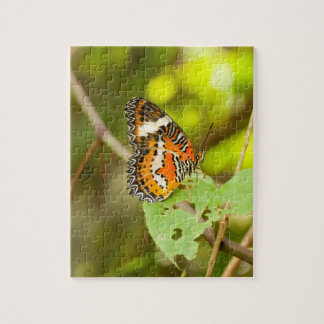 Red lacewing butterfly, Cethosia biblis Jigsaw Puzzle