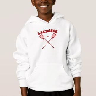 Red Lacrosse Logo Hoodie