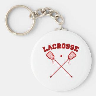 Red Lacrosse Logo Keychain