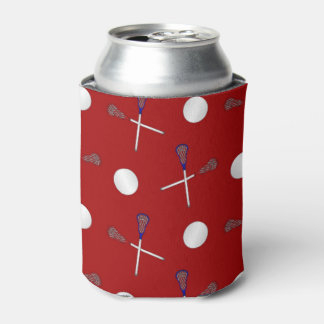 Red lacrosse pattern can cooler