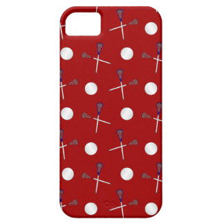 Red lacrosse pattern iPhone 5 cases