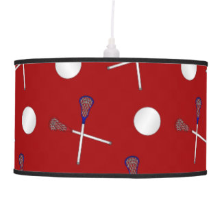 Red lacrosse pattern ceiling lamp