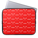 Red Lacrosse Sticks Laptop Sleeve