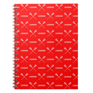 Red Lacrosse Sticks Notebook