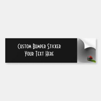Red Lady Bug On Leaf - B&W Fading Background Bumper Sticker