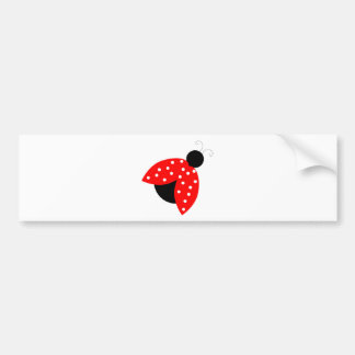 red lady bug peace and joy bumper sticker