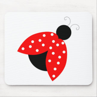red lady bug peace and joy mouse pad