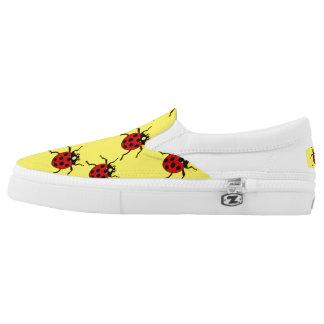 Red Lady Bugs Zipz Slip On-Shoes US-Women Slip-On Sneakers