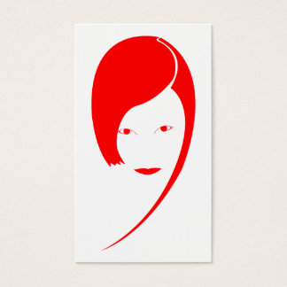 red lady business card