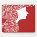 Red Lady Mousepad