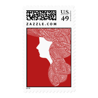 Red Lady Postage Stamps