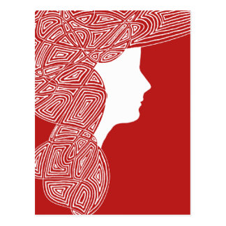 Red Lady Postcard