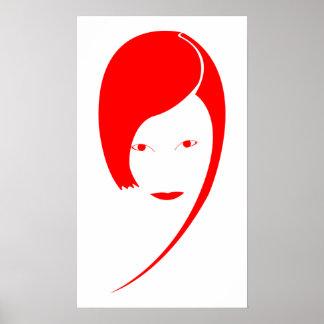 red lady print