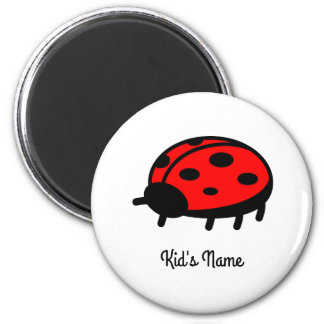 Red ladybug 2 inch round magnet
