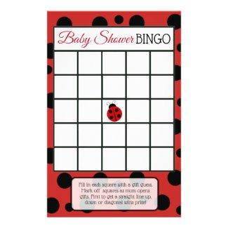 Red Ladybug Baby Shower Games