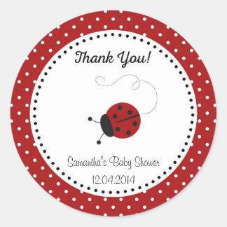 Red Ladybug Baby Shower Sticker