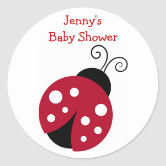 Red Ladybug Baby Shower Stickers Envelope Seals