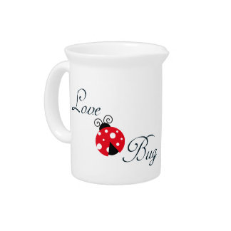 Red  Ladybug Beverage Pitcher
