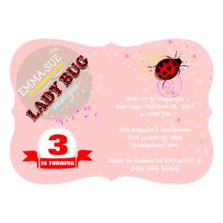 Red Ladybug Birthday Invitations