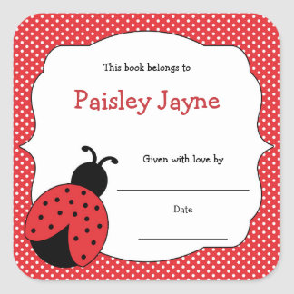 Red Ladybug Bookplates / bring a book baby shower
